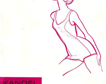 70s Vintage Swimsuit one piece bathing suit sewing pattern Kandel Knits No 7 Sz 8 to 18 Swimsuit Uncut