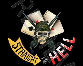 Tshirt - The Clash: Straight to Hell (1982)