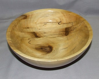 Spalted Poplar bowl, 8 1/2 inches diameter by 3 inches high, Item 103654