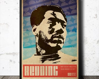 Otis Redding Soul Funk Art Poster