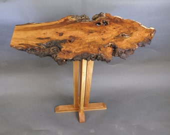 Cloud, a Wild Cherry Burl Top Occasional Table