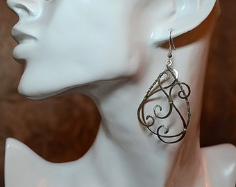 Beauty gift, dangle earrings, silver jewelry, earrings, beads earrings, chandelier earrings, drop earrings