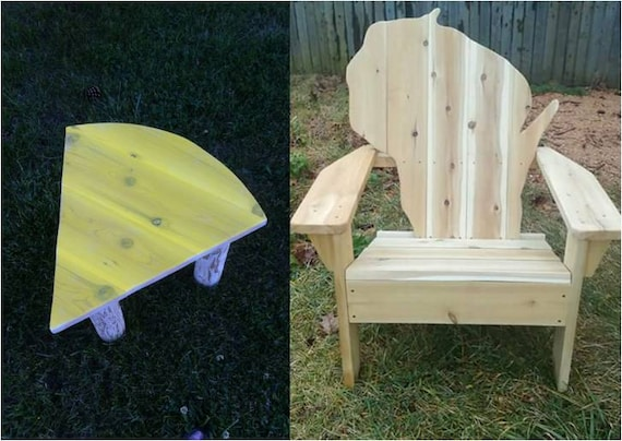 Wisconsin Chair, Wisconsin Adirondack Chair, Wisconsin Shape Chair, Patio  Furniture, Outdoor Furniture, Wisconsin Wood Chair