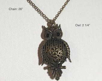 Brass Owl Pendant