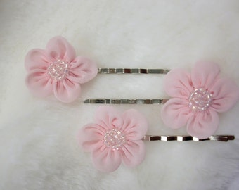 Bridal Hair Comb Vintage Blue Beaded Daisies Made to Order