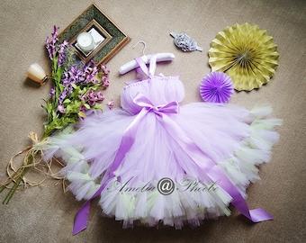 Lavender Flower Girl Tutu Dress, Purple Tutu Dress, Birthday Dress