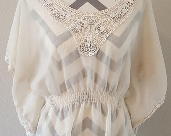 ON SALE Boho Sheer Blouse