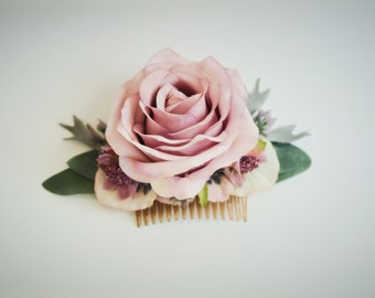 Pollensa silk rose flower comb