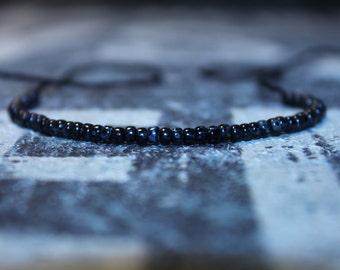 Wish Bracelet, Friendship Bracelet, Birthday Gift, Black Bracelet, Mens Bracelet, Mens Gift for Men, Beaded Bracelet Boyfriend Gift for Him