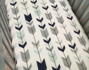 Arrows, Crib Sheet, Changing Pad Cover, Baby Bedding, Nursery,