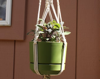 "Handmade Macrame Plant Hanger - All Natural Cotton - 41"" length"