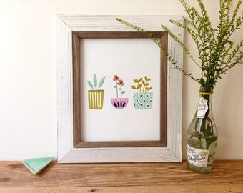 Potted Plants - Art Print 5x7, 8x10, 11x14