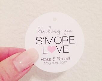 25 Tags, Smore Love Wedding Favor tags, Custom Wedding Favor tags, Smore Favor Tags, Smore Love, Wedding tags, Wedding Favors