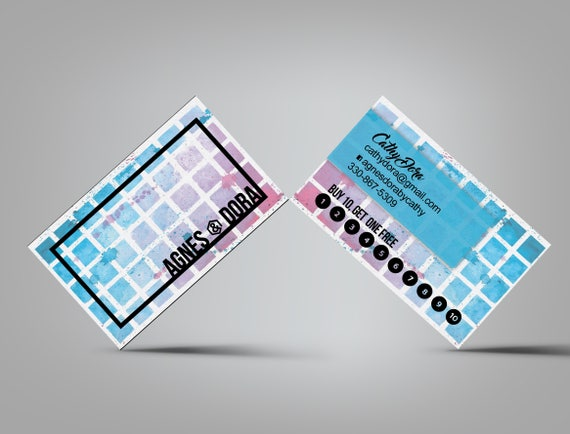 Business card punch reward loyalty card small business colourmoves