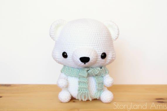 Pattern cuddle sized polar bear amigurumi crocheted teddy pattern cuddle sized polar bear amigurumi crocheted teddy bear toy tutorial pdf crochet pattern holiday winter crochet dt1010fo
