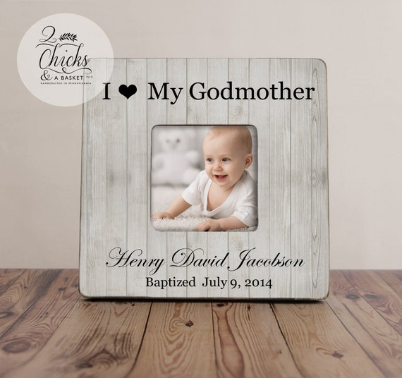 Godparent Gift Personalized Christening Picture Frame