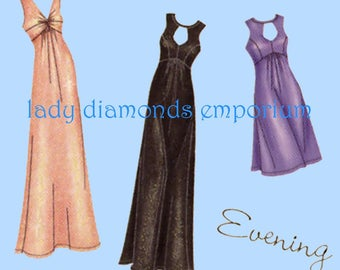 Simplicity 0251 1612 Womens Day or Evening Dress Plus Size 20W 22W 24W 26W 28W Designer's Inspiration Sewing Pattern Uncut FF