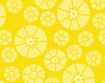 Topper Yellow Organic Cotton Quilting Fabric, Pincushion Sewing Fabric, Bright Yellow Quilt Fabric