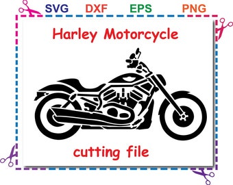 harley svg,Motorcycle Svg Eps Png Dxf files For Silhouette Studio,Cricut Design Space for Commercial & Personal Use- Instant Download