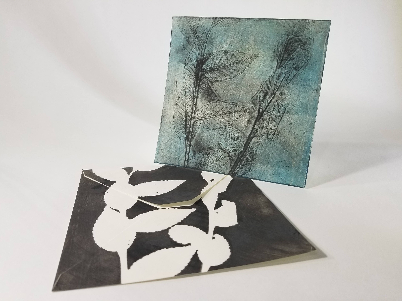 Greeting card 5 x 5 hand printed gelatin print matching envelope greeting card 5 x 5 hand printed gelatin print matching envelope blank on the inside kristyandbryce Choice Image