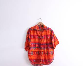 Wild Pattern 90s Cotton Gauze Shirt