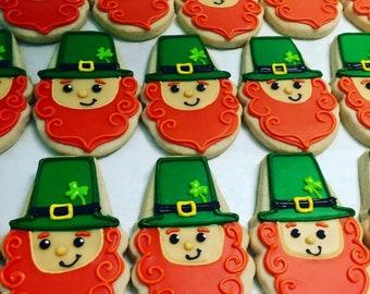 Saint Patrick's Day leprechaun cookies