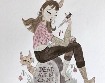 Dead Men Can't Catcall Original A3