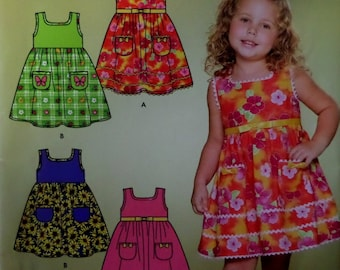 8dc4ff74 SLEEVELESS DRESS Pattern U2022 Simplicity 4253 U2022 Girls 3-8 U2022  Sundress U2022 High Waist Dress U2022 Sewing Pattern U2022 Childrens  Patterns U2022 ...