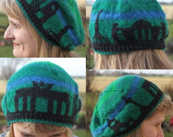 Berlin Skyline Hat - a PDF Knitting Pattern