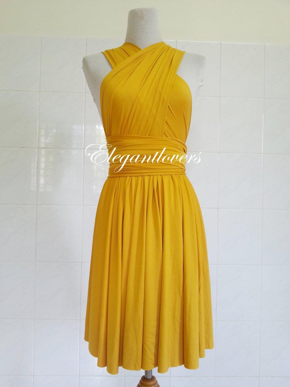 Infinity dress golden yellow wedding dress bridesmaids dress zoom ombrellifo Gallery