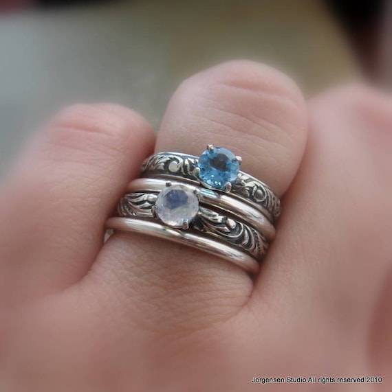 Items Similar To Rainbow Moonstone Gemstone Solitaire Ring