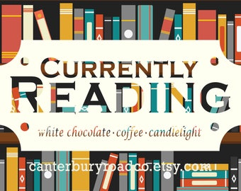 Soy Candles | Currently Reading | Bookish Scent | TBR | Book Merch | Book Lover Gift | Coffee Scent | Bookish Gift | CanterburyRoadCo