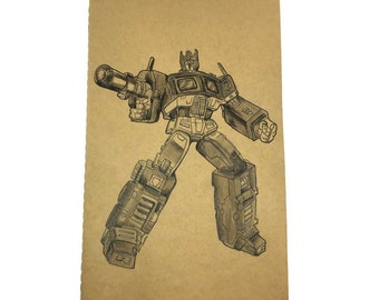 Moleskine - Personalized notebook with Transformers Optimus Prime. size Large