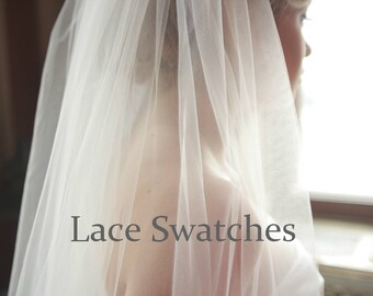 Lace swatches for veils