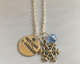 Once Upon a December smaller snowflake — Anastasia broadway — Anastasia musical — jewelry Theater lover gift