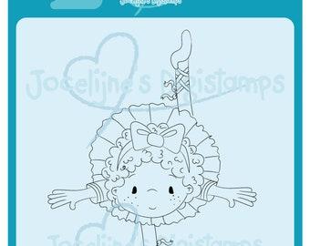 Charlote Ballerina Standing • 300 PPI Digital Stamp • Digistamp • Instant Download