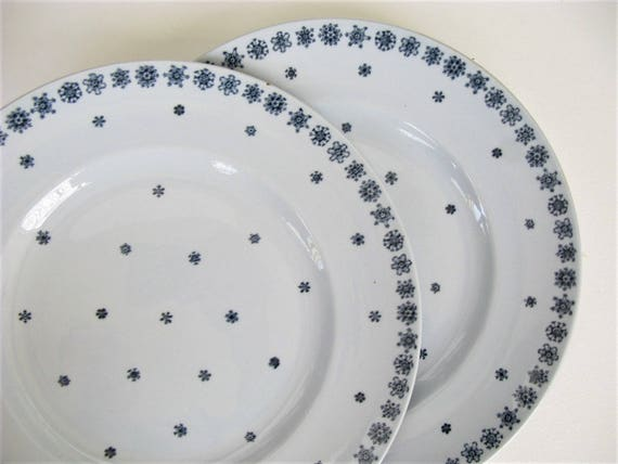 Like this item? & Arabia Finland Snowflake Dinner Plate Set of 2 Winter Dinnerware Blue Christmas