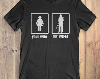 Trombone T-Shirt Gift: Your Wife My Wife