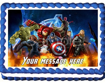 THE AVENGERS Image Edible cake topper decoration