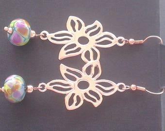 Life in multicolor: Lampwork Glass earrings