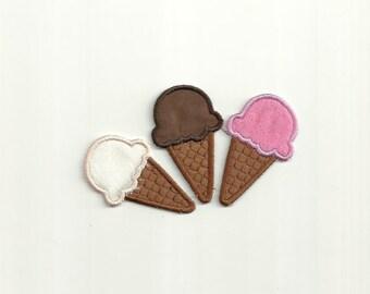 Choice of 1 Ice Cream Cone Patch! Custom Made! AP17