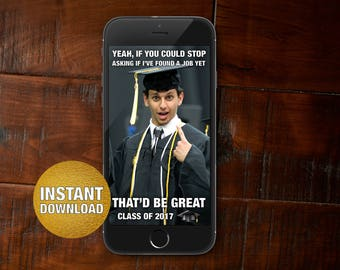 Graduation Meme Snapchat Geofilter