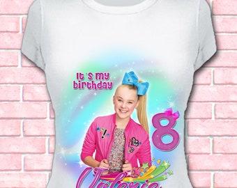 JoJo Siwa iron on transfer - DIY birthday t-shirt- Digital file for download YOU PRINT