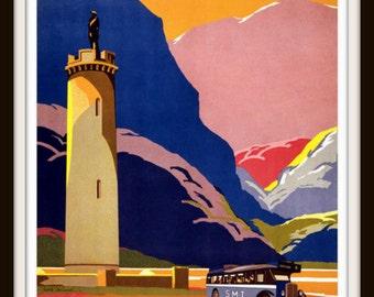 Scotland by SMT ~ circa 1930 - Giclee Fine Art Print - Scottish Travel Poster - Vintage Scotland - Scottish Poster - Scotland Poster