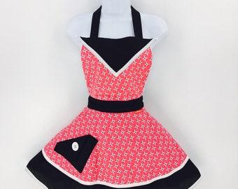 60s Jetson Style Womens Apron Retro Vintage Inspired Kitchen Apron Flirty Kitschy Cute Hostess Aprons for Women Bridal Gift enchiladamama