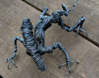 Handmade Iconic Alien (Xenomorph) Metal Sculpture (30cm long).