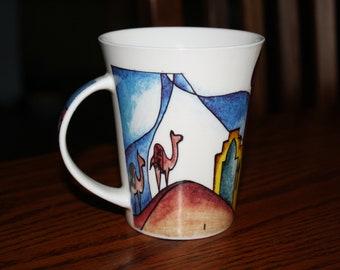 Rare Vintage Desert Designs Mug made in Saudi Arabia