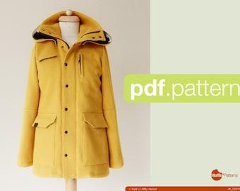 Couture de PDF motif femmes veste utilitaire - Tosti-(taille 34-48)