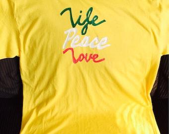 Life,Peace,Love Tshirt Size XL