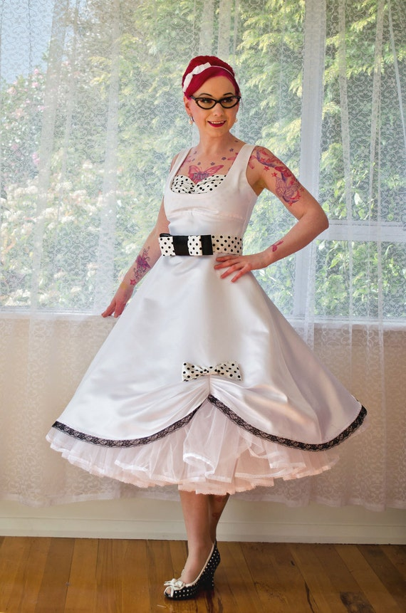 1950s Pin Up Audrey Wedding Dress In A With Polka